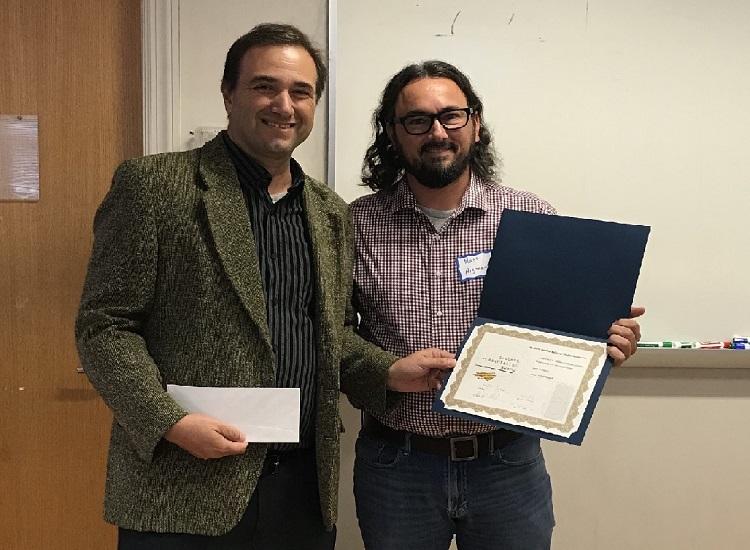 Matthew Argonauta (right) receiving award