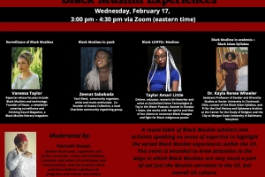 Speakers for Round Table Black Muslim Experiences
