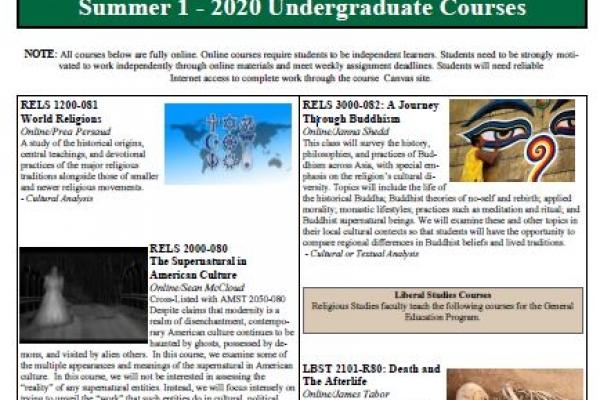 RELS Summer 2020 Schedule
